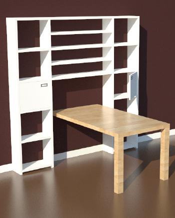 Driedimensionale ontwerptekening van meubels for 3d ontwerp badkamer maken