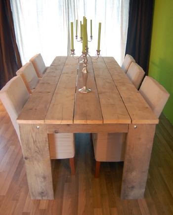 Steigerhouten meubels direct kopen of op maat bestellen for Steigerhouten eettafel maken